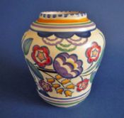 Superb Poole Pottery BQ Pattern Vase by Truda Carter c1930